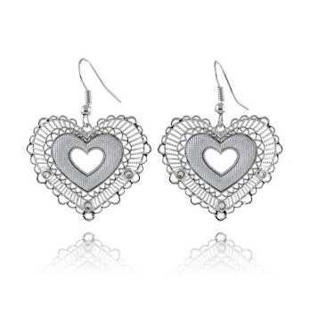 Orecchini a cuore in bronzo argentato Byblos jewels Promozioni BB-9312