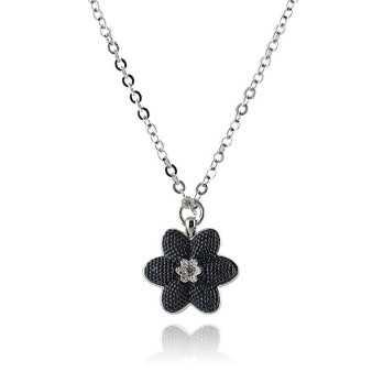 Collana con Fiore in acciaio  Promozioni BB-9822