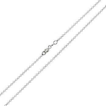 Catenina a rolò diamantata 90 cm  Catene e catenine CT350AG90R