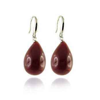 Orecchini a goccia col. vinaccia Lizas jewellery Promozioni LZ-33880