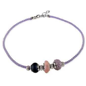 Girocollo con perle di Murano colorate  Promozioni 70101