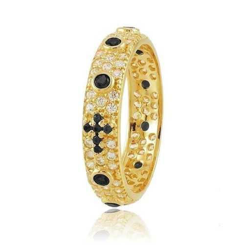 Anello a rosario dorato con pietre nereAlexia Gioielli Anelli religiosi 38,00€ RB-AG240ANRG