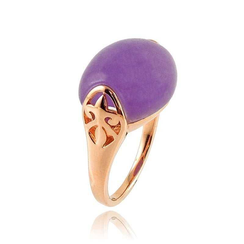 Anello in argento rosa con pietra viola Byblos jewels Anelli Donna BB-9008