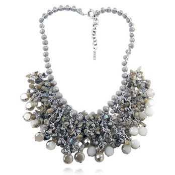 Collana bavaglino con pietre grige Lizas jewellery Promozioni LZ-24266