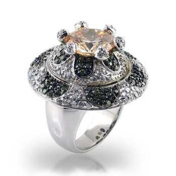 Anello in argento sfaccettata e pietra giallaPuca Jewels Anelli Donna 50,00€ MP-AG30/AN1