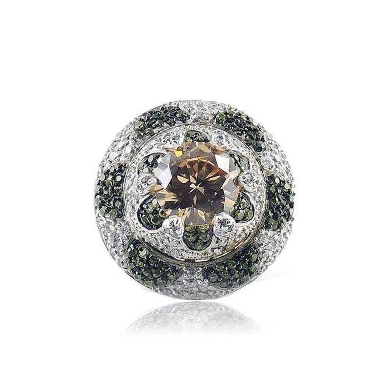 Anello in argento sfaccettata e pietra gialla Puca Jewels Anelli Donna MP-AG30/AN1