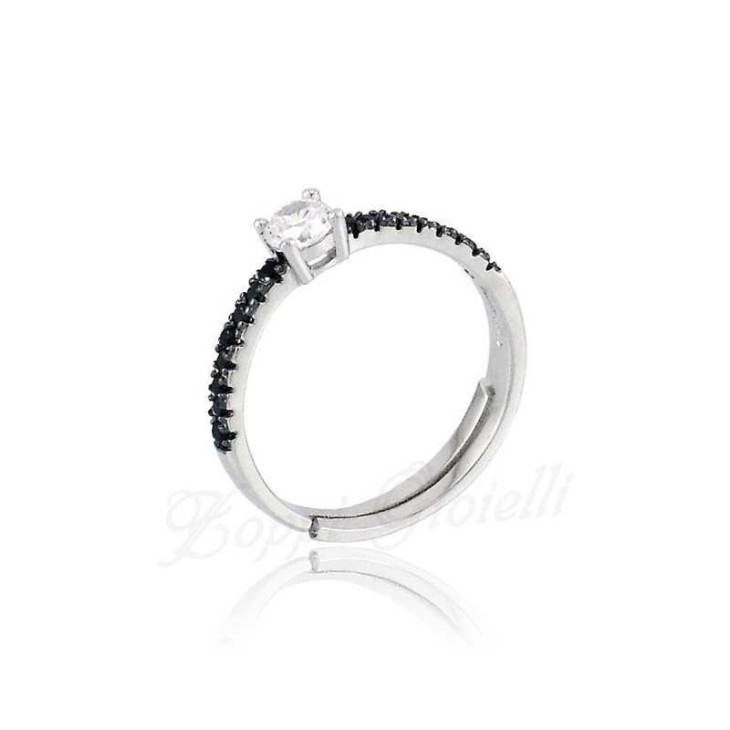 Anello unoaerre black&white Unoaerre Silver jewellery Anelli Donna 1R-AG667