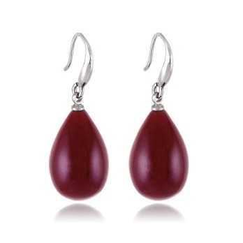 Orecchini a goccia col. bordò Lizas jewellery Promozioni LZ-33870