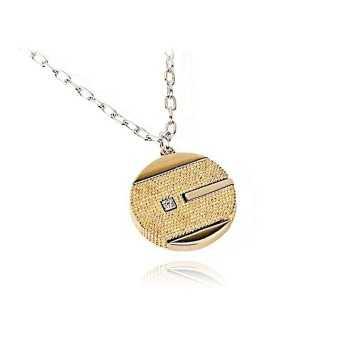 Collana con scudo dorato  Collane Uomo B-8556/10