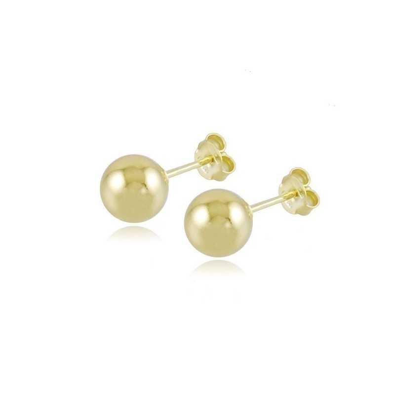 Orecchini a pallino 8mm in argento doratoZoppi Gioielli bijoux Home 9,00€ OR60PO