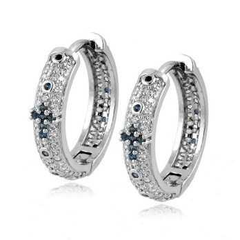 Orecchini a rosario in argento e pietre blu Alexia Gioielli Orecchini religiosi RB-ORR240AG2