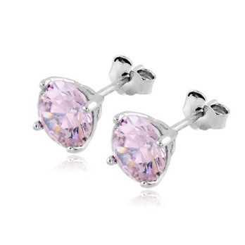 Orecchini in argento con zircone rosa 7mm Zoppi Gioielli bijoux Orecchini Donna OR50AGR
