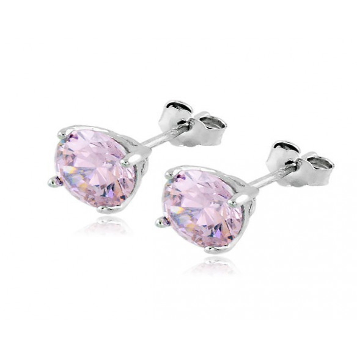 Orecchini in argento con zircone rosa 7mmZoppi Gioielli - Multibrand Orecchini Donna 16,00€ OR50AGR
