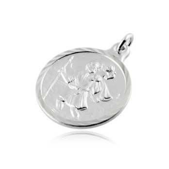 Medaglia San Cristoforo in argento 20mm Alexia Gioielli Croci e Medaglie RB-MD60AGSC