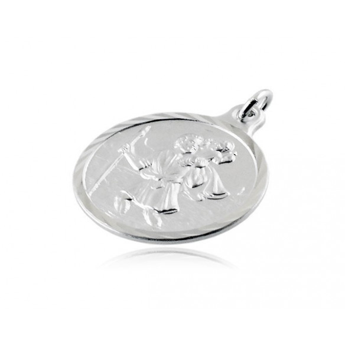Medaglia San Cristoforo in argento 20mm  Croci e Medaglie RB-MD60AGSC