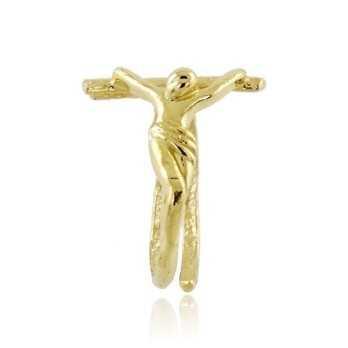 Anello con cristo in argento dorato