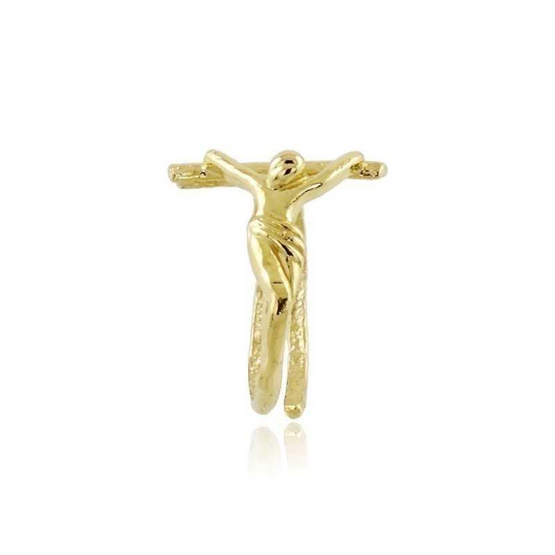 Anello con cristo in argento dorato Alexia Gioielli Anelli religiosi RB-ANR12AGG