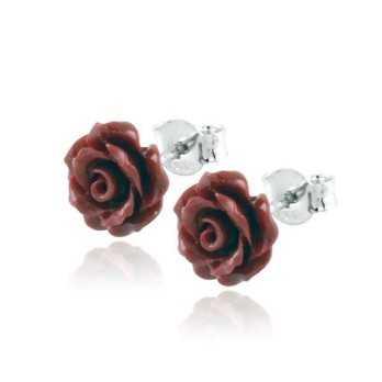 Orecchini in argento con corallo rosso a fiore Alexia Gioielli Orecchini Perle RB-ORC5AG
