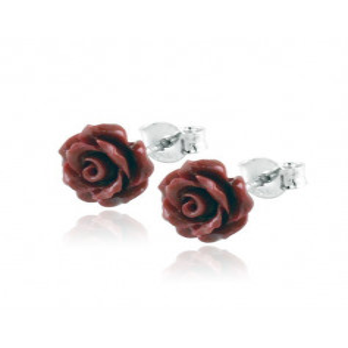 Orecchini in argento con corallo rosso a fiore  Orecchini Perle RB-ORC5AG