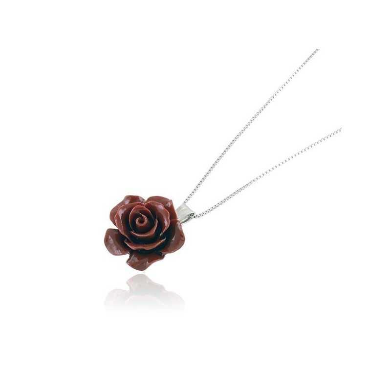 Collana in argento con rosellina di corallo rosso Alexia Gioielli Collane perle RB-CLC12AG