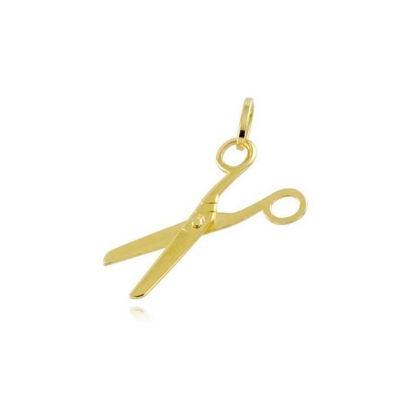 Forbici portafortuna in oro giallo 18kt Zoppi Gioielli jewelry Ciondoli CNF115AU