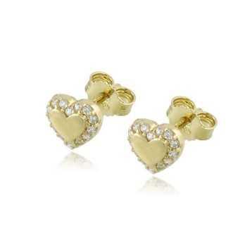 Orecchini cuoricino in oro giallo e swarovski Zoppi Gioielli jewelry Orecchini Donna OR-170AU
