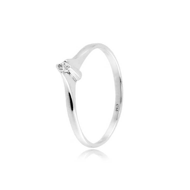 Anello solitario in argento con zircone Ct. 0,03Zoppi Gioielli bijoux Anelli Donna 25,00€ CM002AG