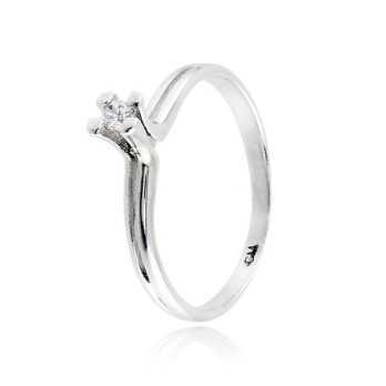 Anello solitario in argento con zircone Ct. 0,05Zoppi Gioielli - Multibrand Anelli Donna 30,00€ CM001AG