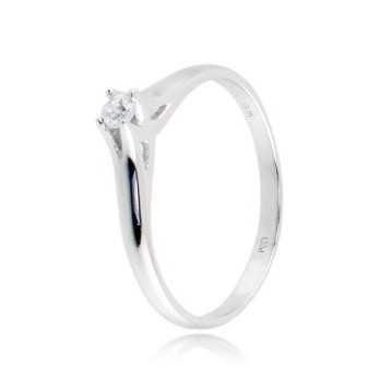 Anello solitario in argento con zircone Ct. 0,06  Anelli Donna CM004AG