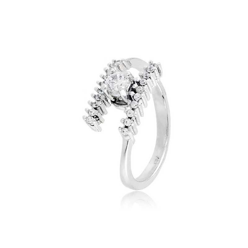 Anello solitario in argento e zirconi Ct. 0,30Zoppi Gioielli bijoux Anelli Donna 60,00€ CM025AG