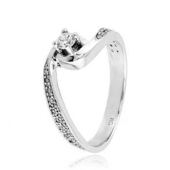 Anello solitario in argento con zirconi Ct. 0,27 Zoppi Gioielli bijoux Anelli Donna CM028AG