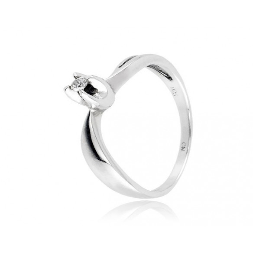 Anello solitario in argento e zircone Ct. 0,04 Zoppi Gioielli bijoux Anelli Donna CM006AG
