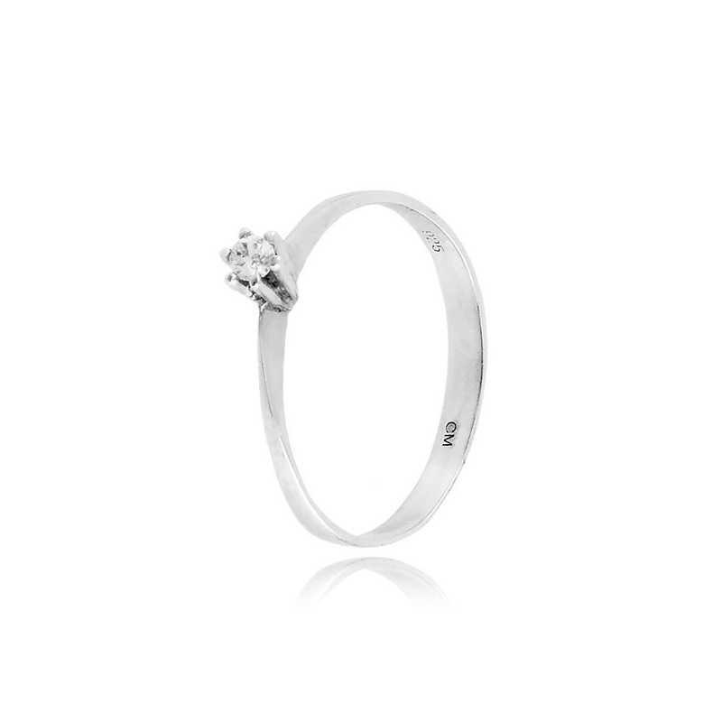Anello solitario in argento e zircone Ct. 0,05 Zoppi Gioielli bijoux Anelli Donna CM005AG