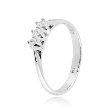Anello trilogy in argento e zirconi Ct. 0,12Zoppi Gioielli - Multibrand Anelli Donna 39,00€ CM048AG