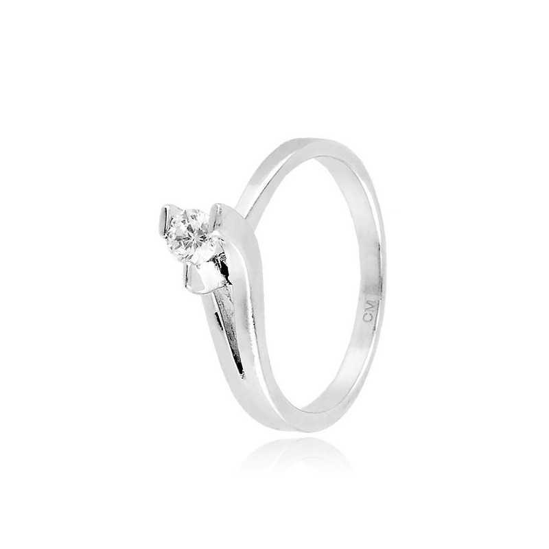 Anello solitario in argento e zircone Ct. 0,18 Zoppi Gioielli bijoux Anelli Donna CM026AG