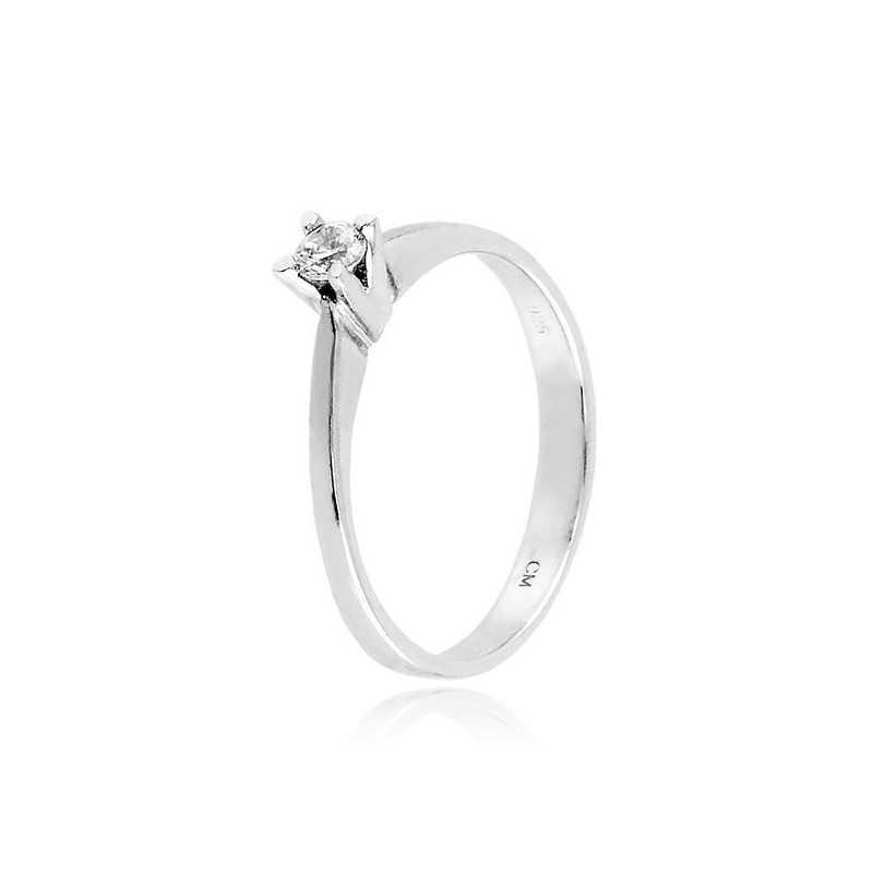 Anello solitario in argento e zircone Ct. 0,13 Zoppi Gioielli bijoux Anelli Donna CM018AG