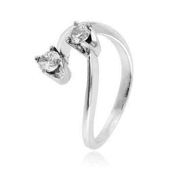 Anello Bilogy in argento e zircone Ct. 0,40 Zoppi Gioielli bijoux Anelli Donna CM035AG