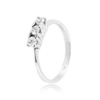 Anello trilogy in argento con zirconi Ct. 0,30 Zoppi Gioielli bijoux Anelli Donna CM046AG