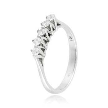 Anello riviera con 5 diamanti Ct. 0,20 Zoppi Gioielli bijoux Anelli Donna CM047AG