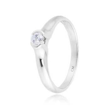 Anello solitario in argento e zircone Ct. 0,13Zoppi Gioielli - Multibrand Anelli Donna 40,00€ CM017AG