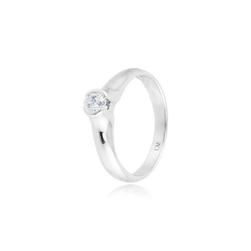 Anello solitario in argento e zircone Ct. 0,13 Zoppi Gioielli bijoux Anelli Donna CM017AG