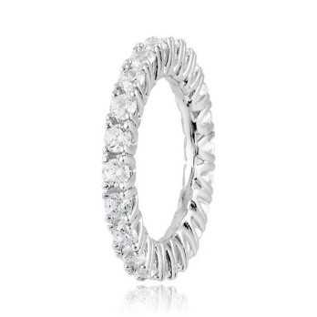 Anello Veretta in argento con zirconi a giro  Anelli Donna CM070AG