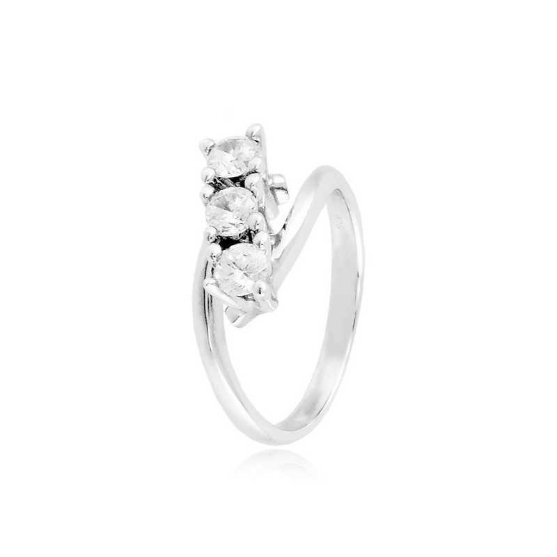 Anello trilogy in argento con zirconi Ct. 0,60 Zoppi Gioielli bijoux Anelli Donna CM043AG