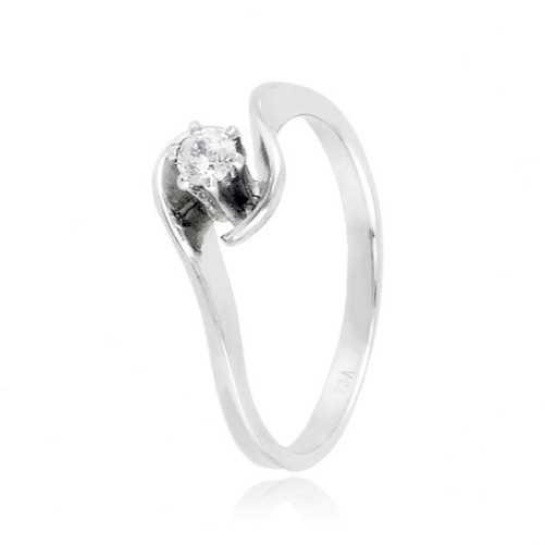 Anello solitario in argento con pietra Ct. 0,10 Zoppi Gioielli bijoux Anelli Donna CM013AG