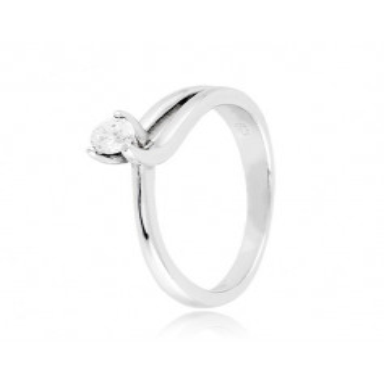 Anello solitario argento e zircone Ct. 0,14 Zoppi Gioielli bijoux Anelli Donna CM019AG