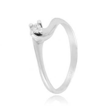 Anello solitario in argento e zircone Ct. 0,07 Zoppi Gioielli bijoux Anelli Donna CM012AG