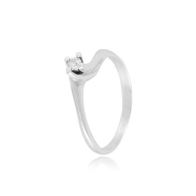 Anello solitario in argento e zircone Ct. 0,07Zoppi Gioielli bijoux Anelli Donna 40,00€ CM012AG