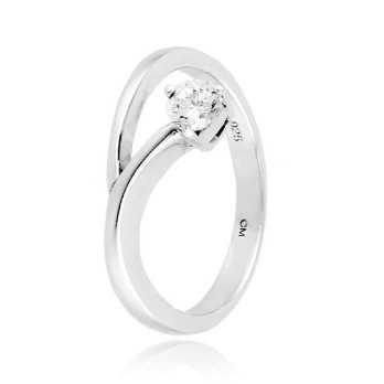 Anello solitario in argento con zircone Ct. 0,20Zoppi Gioielli - Multibrand Anelli Donna 40,00€ CM027AG