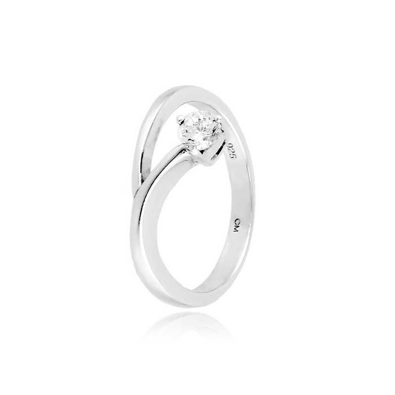 Anello solitario in argento con zircone Ct. 0,20 Zoppi Gioielli bijoux Anelli Donna CM027AG