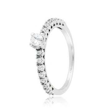 Anello solitario argento e zirconi Ct. 0,31 Zoppi Gioielli bijoux Anelli Donna CM021AG